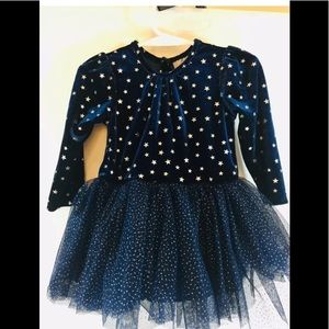 Girl's Long Sleeve Tulle Skirts Shiny Star Tutu